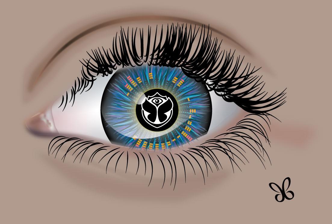 oeil 3D Fée bleue