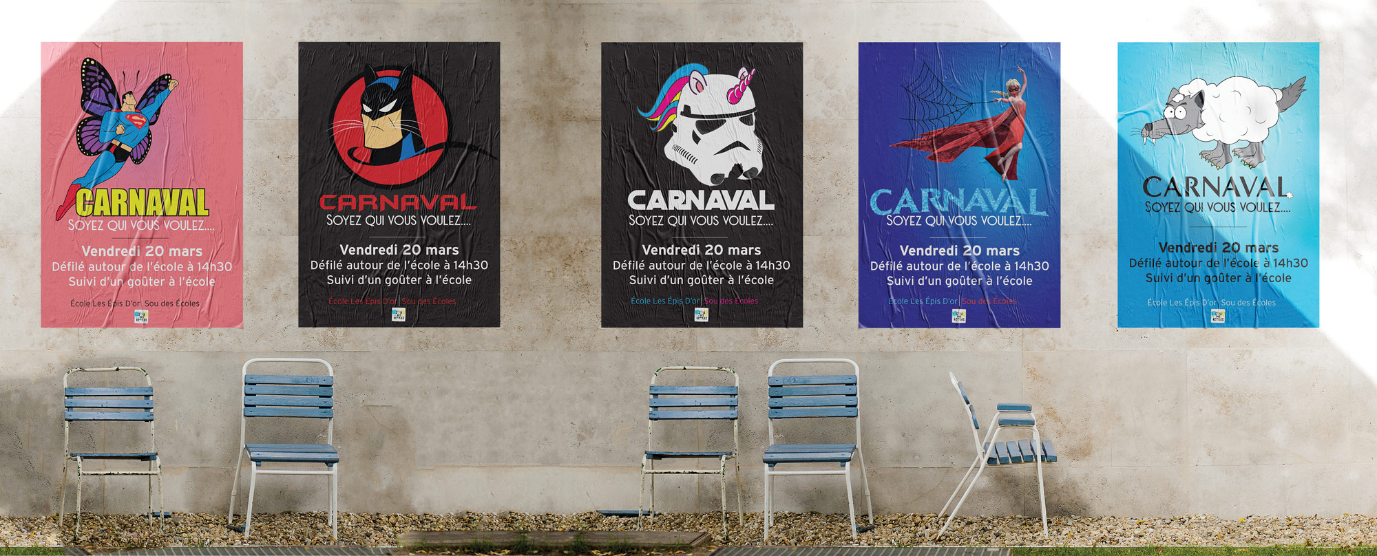 posters carnaval sou école