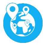 logo planete localisation