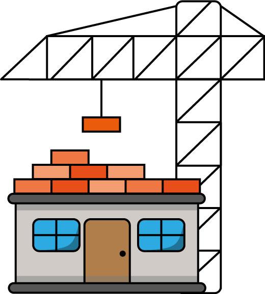 maison qui se construit
